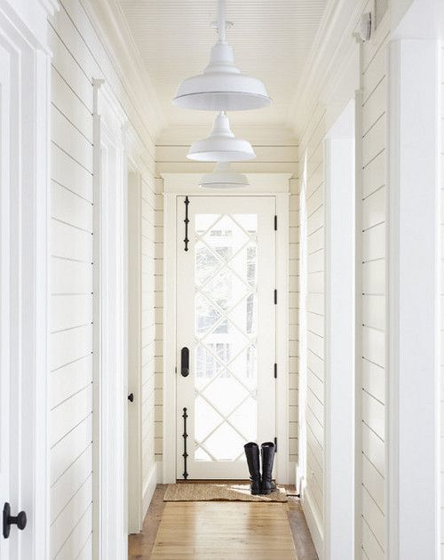 Where to use shiplap | Holly Mathis Interiors love shiplap - notice winder on calls and skinny on ceiling - like that shiplap doesnt overlap