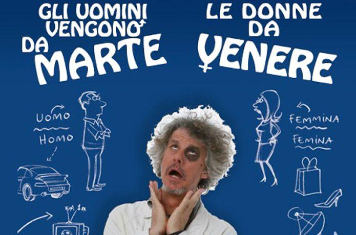 """Teatro Ponchielli di Cremona - Paolo Migone approda con """"Gli uomini vengono da Marte, le donne da Venere"""". Al via la prevendita"""