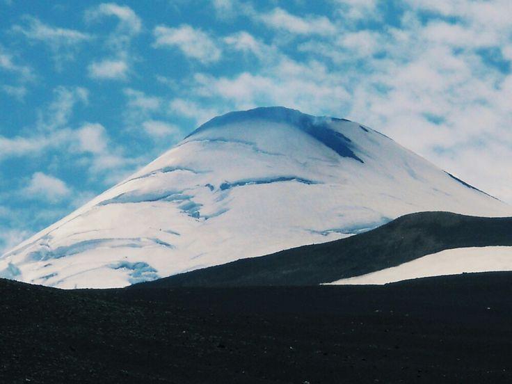 Un cachito del volcán Villarrica