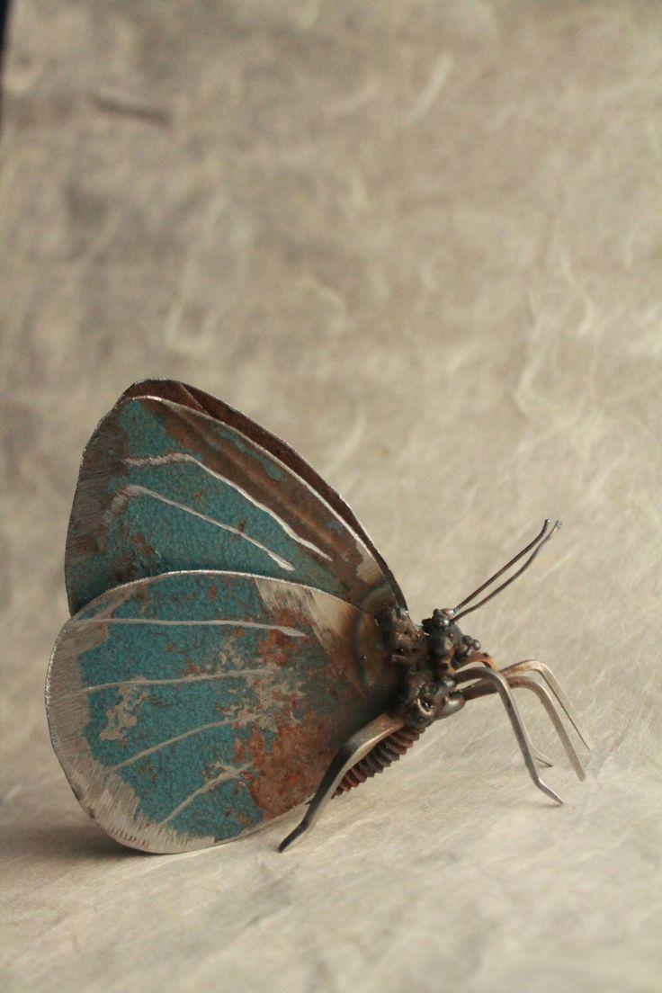 Holly Blue Butterfly Sculpture – Scrap Metal Sculpture, Unique Art Work, Metal Art, Metal Butterfly