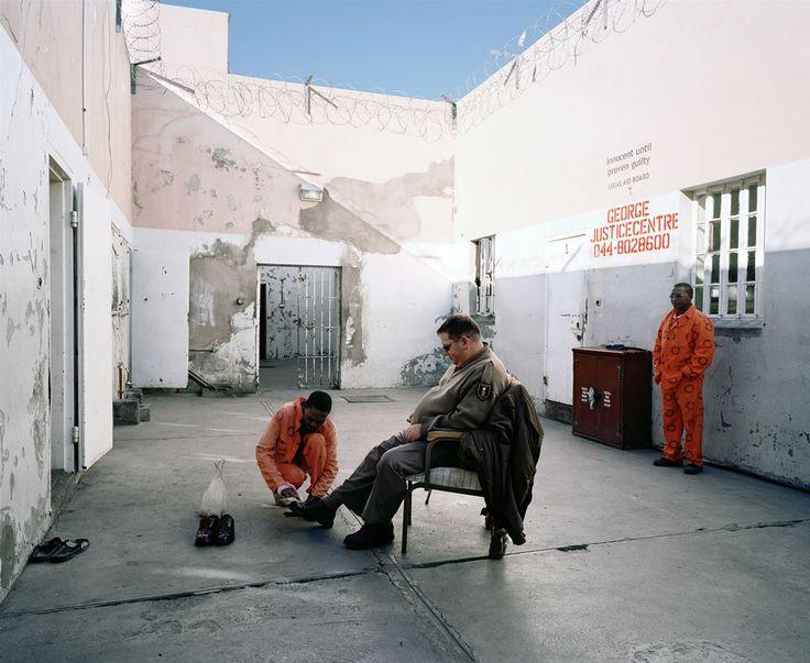 "Mikhael Subotzky. ""Jacks Shines Swanepoel's Shoes, Beaufort West Prison"". 2006. Beaufort West, Western Cape, South Africa..."