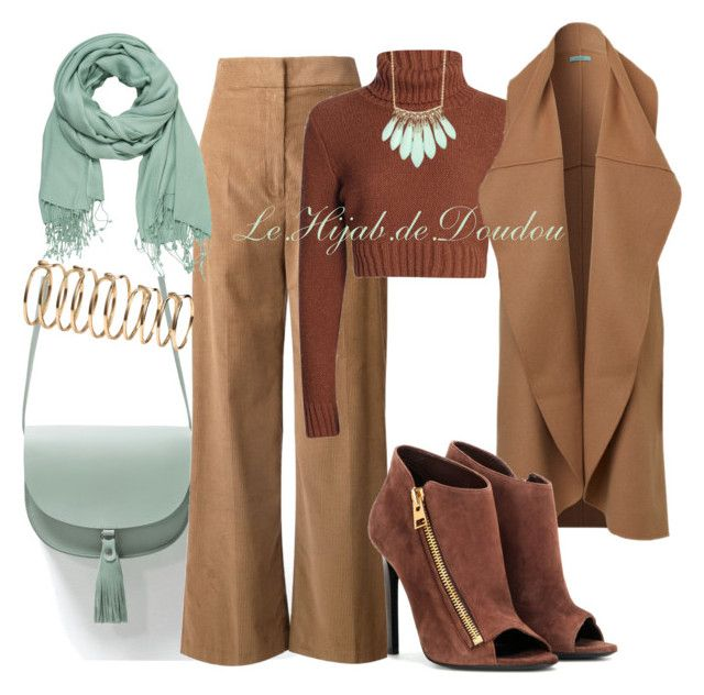 """Hijab Outfit"" by le-hijab-de-doudou ❤ liked on Polyvore featuring Zara, Rosetta Getty, Alexis Bittar, maurices, Tom Ford and H&M"