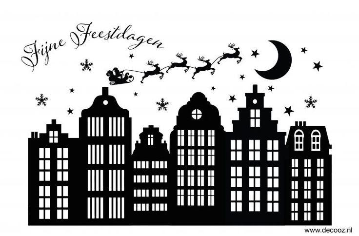 Sticker Sinterklaas en Kerstmis