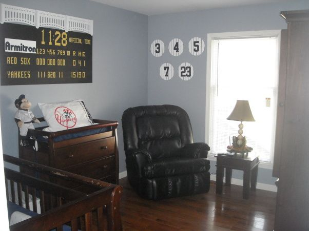 New York Yankees nursery, defiantly what my little man's will look like :)
