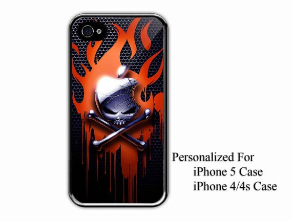 iPhone 4/4s Case  Apple Skull Cute Pirate  iPhone by NiceFaceShop, $15.00
