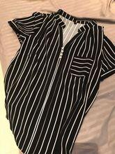 Tienda Online Nueva moda de Verano de la raya camisa femenina V-cuello de la corto-manga de la gasa blusa oficina de Negocios formal más el tamaño de ropa de trabajo tops   Aliexpress móvil