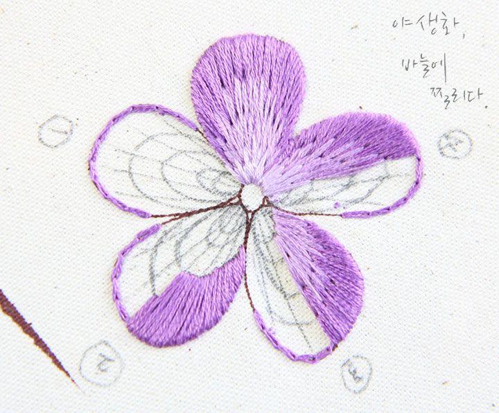 ◇ South Korea  야생화 꽃자수 바늘에 찔리다