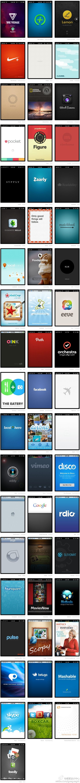 Mobile splash screen ux ui design