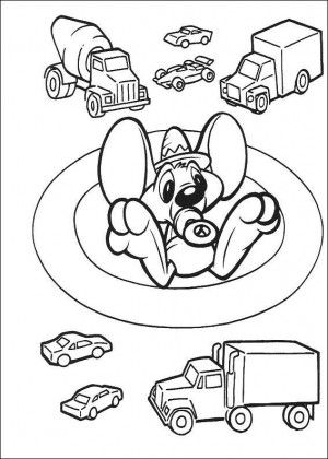 Baby Tunes coloring page 2