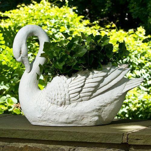 Swan Planter Garden Life Pinterest