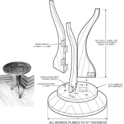 Three Legged Table Plans Woodworking Projects Amp Plans