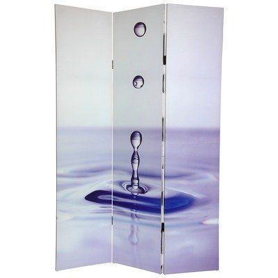 Oriental Furniture Simple Subtle Beautiful Large Zen Art Print Photo Screen, 6-Feet Water Drop Photograph Printed... - Listing price: $125.00 Now: $117.56 + Free Shipping