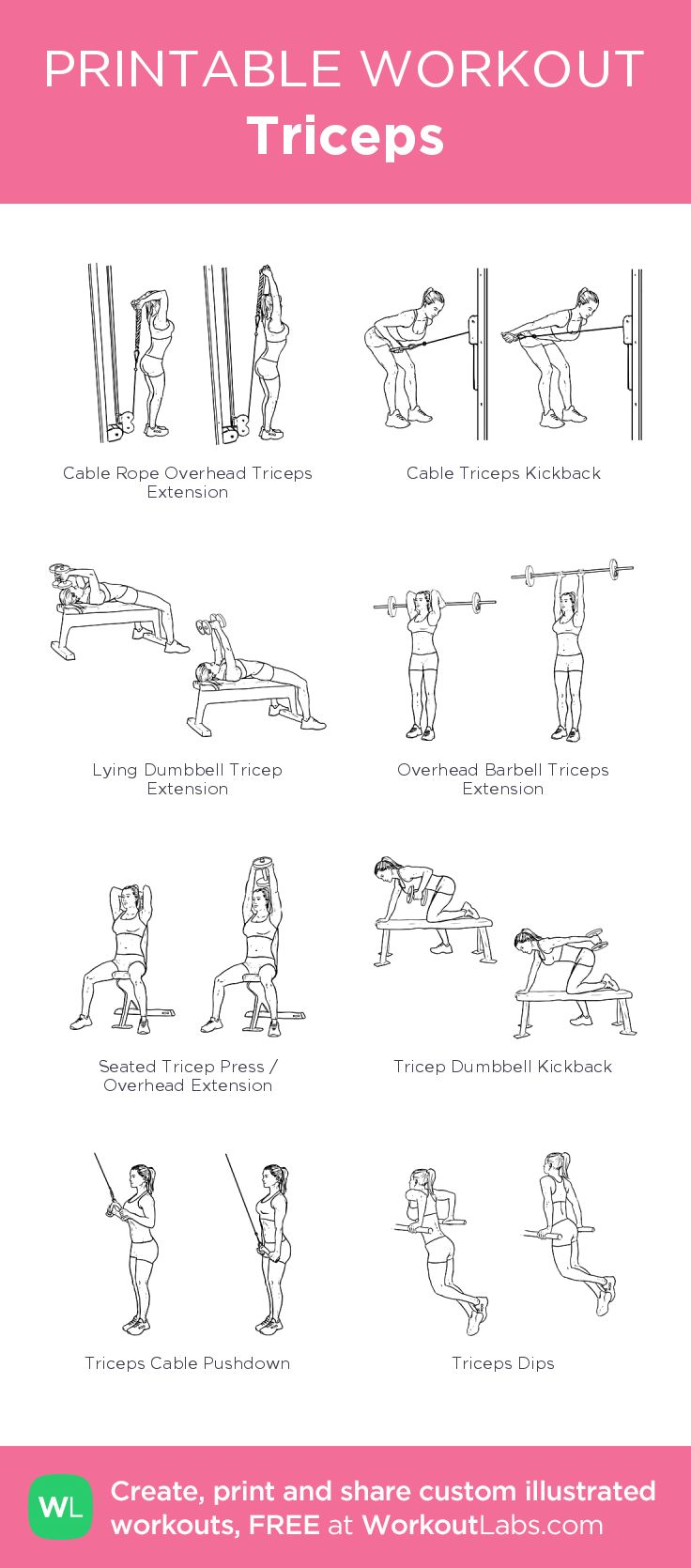 Triceps: my visual workout created at WorkoutLabs.com • Click through to…