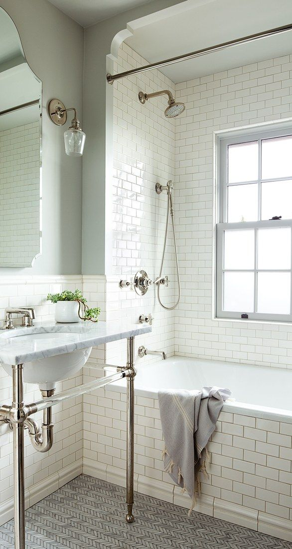 a 1920s house with a modern twist in portland oregon vintage bathroom - Bathroom Designs Vintage
