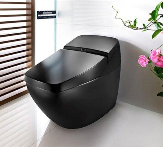 Black Modern Bathroom Toilet. Cool Black Hi Tech Toilet  Lumen Avant by Roca DigsDigs ToiletBlack BathroomsModern 53 best Toilets images on Pinterest Bathrooms Bathroom and