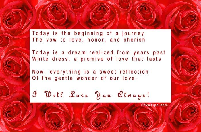Love Poems For Weddings   Wedding Poem With Roses