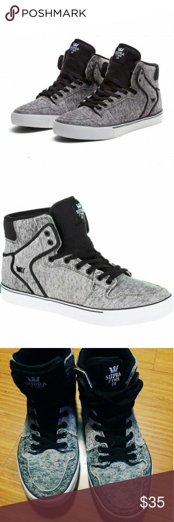 Men's Supra Hightops Slightly used but in great condition pair of hightop supras for women size 7 or mens size 5.5 Supra Shoes