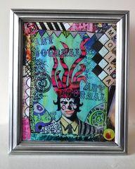 Framed Print - Boys Boys Boys Art Journal Cover, $25