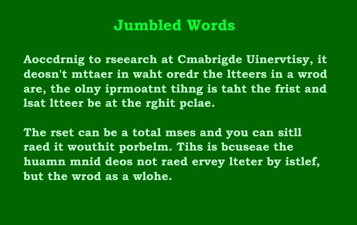 If the first and last letters of a word are in the correct
