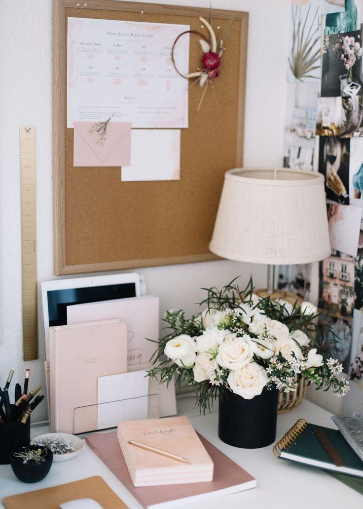 10 Tips For Organizing An Efficient Workspace A Fabulous Fete Work Desk Decor Office Desk Decor Work Office Decor