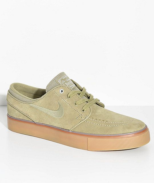 bf2387e3f7659 Nike SB Janoski Olive   Gum Suede Skate Shoes