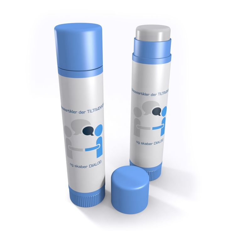 Lip balm with the print of your logo or product symbol.