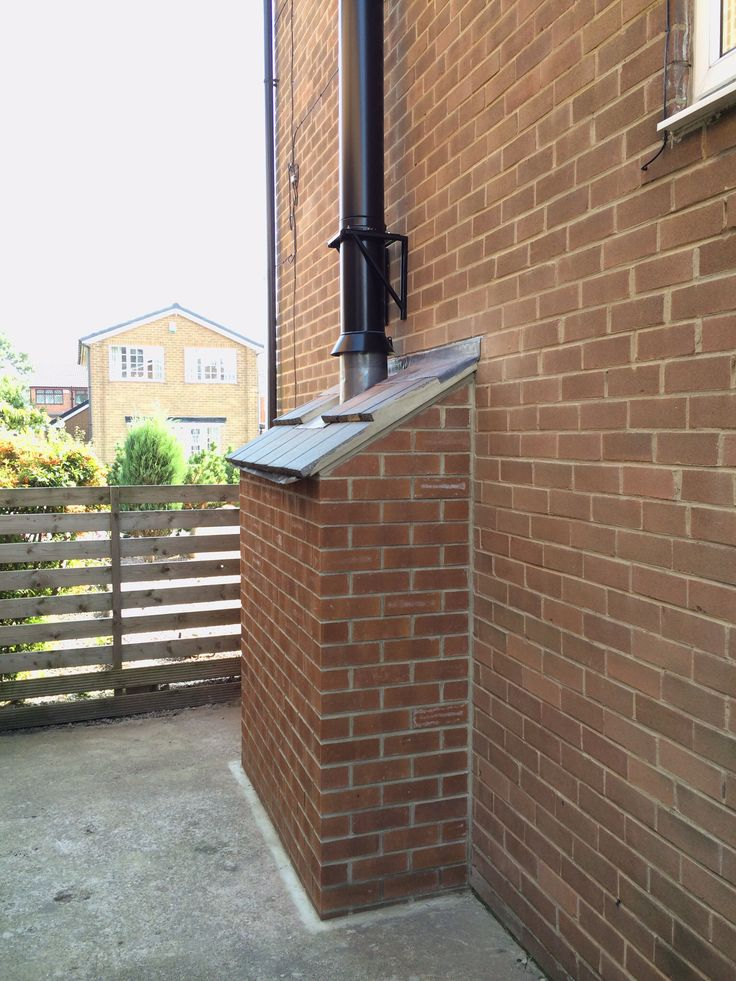 log burner on outside wall - Google Search