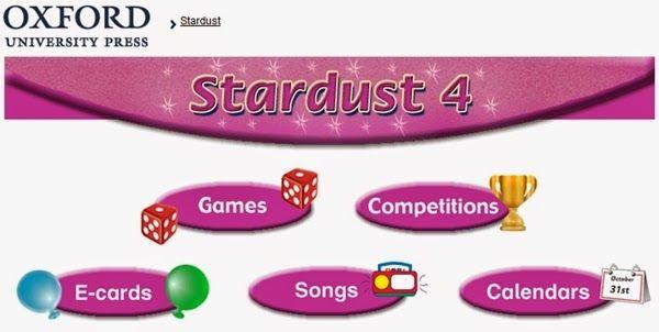 """Materiales y actividades interactivas complementarias de Inglés de 4º Nivel de Educación Primaria, """"Stardust"""", de Editorial Oxford."""