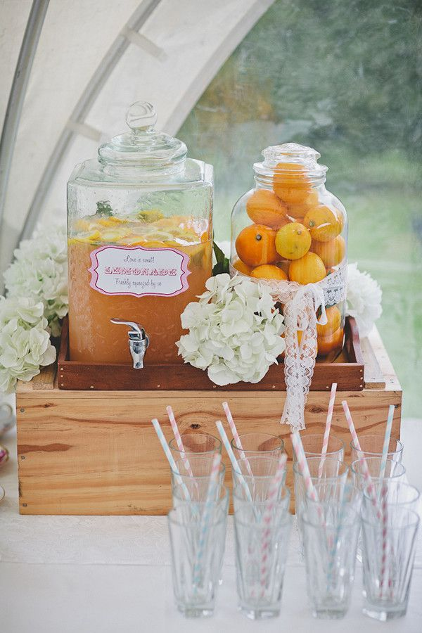 Hand squeezed lemonade at the wedding | Real Wedding: Ariane and Andy's Afternoon Tea-Themed Wedding in New Zealand