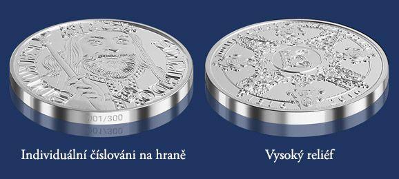 Stříbrná medaile k výročí 700 let od narození Karla IV. Emitent Národní Pokladnice #numismatika #sberatelstvi #mince #medaile #stribro #coincollecting #numismatics #naodnipokladnice #kareliv #historie