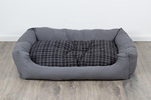 """Aus der Kategorie Betten  gibt es, zum Preis von EUR 49,99  <p><b>Trendiges Hundebett - der neue Lieblingsplatz!</b></p><p>Gemütlich und geborgen - so liegt Ihr Hund in diesem kuschligen Hundebett mit weichem Rand. Dabei ist es nicht nur """"tierisch"""" bequem, sondern mit seiner zeitlos-modernen Optik und trendigen Farbgebung auch ein schicker Hingucker für die Wohnung. Das Liegekissen lässt sich wenden - eine Seite ist wie die Umrandung uni Grau, die andere hat ein farblich passendes…"""