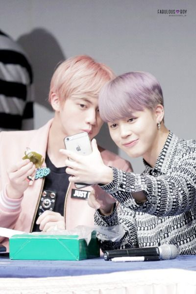 Jin and Jimin <3 brothers in pastel