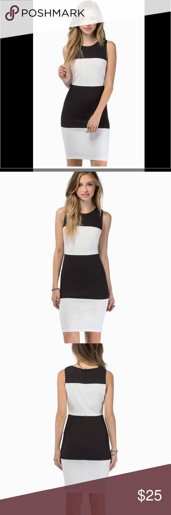 Tobi Black and White dress- brand new! Never worn, perfect for work or a night out! Tobi Dresses Midi