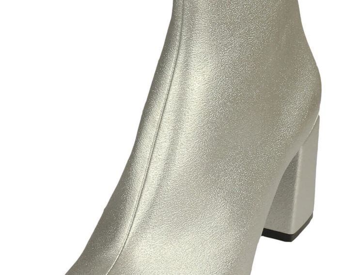 Botine ZARA Shiny Silver