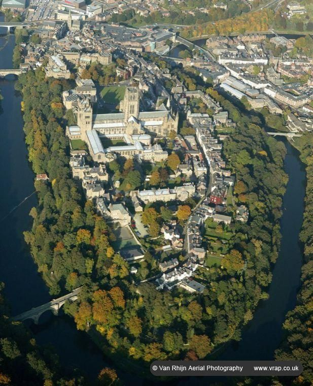 Durham Cathedral aerial photo, Durham, England, UK