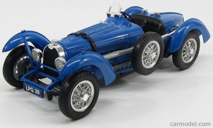 BURAGO 3005 Scale 1/18  BUGATTI TYPE 59 1934 - BLACK BOX BLUETTE