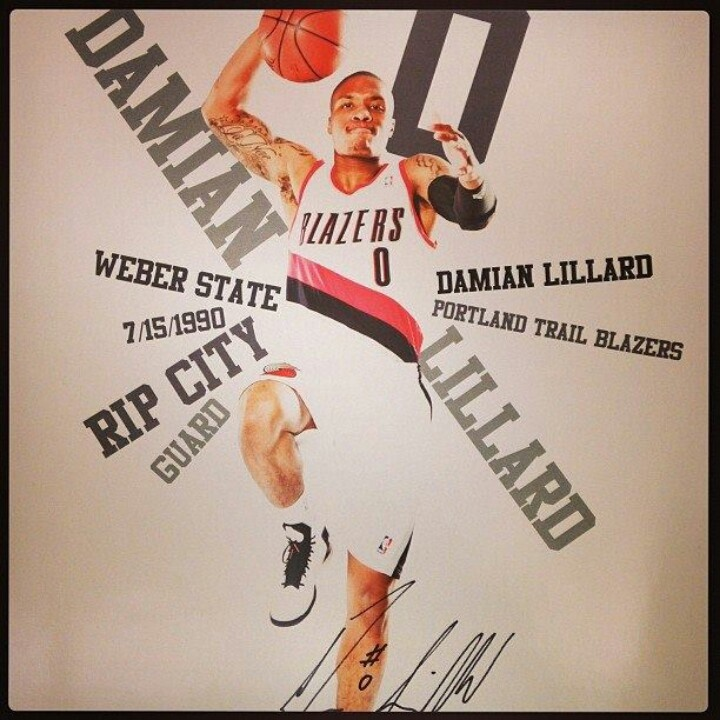 Blazers Portland Posters: 33 Best Images About Damian Lillard On Pinterest