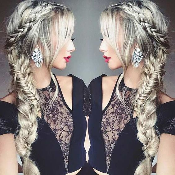 Pretty Side-Swept Braid Hairstyle - Prom Hairstyles for Long Hair #PromHairstylesMedium