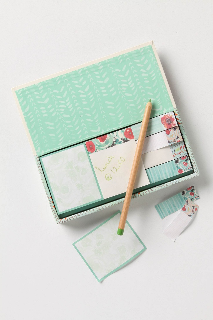 Cactus Flower Sticky Notes - Anthropologie.com