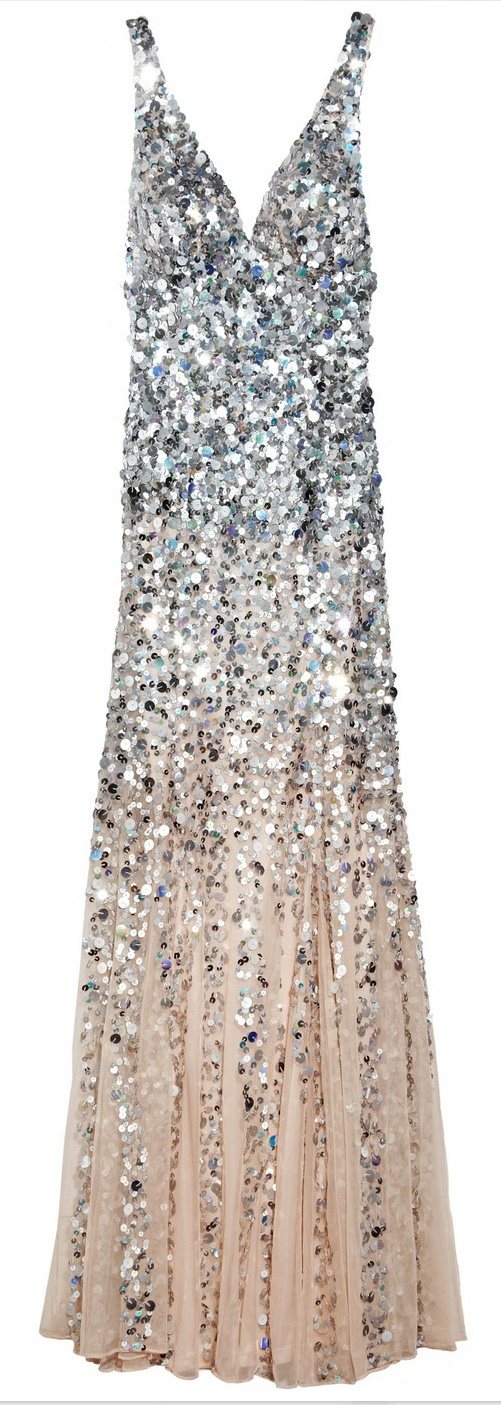 RACHEL GILBERT  Giselle Dégradé Sequined Gown