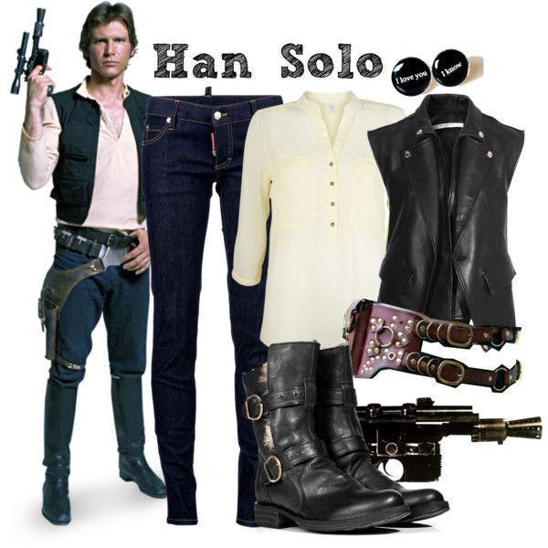 U0026quot;Han Solo (Star Wars)u0026quot; by isaelfo on Polyvore | Fandom Fashion | Pinterest | Disfraz friki ...