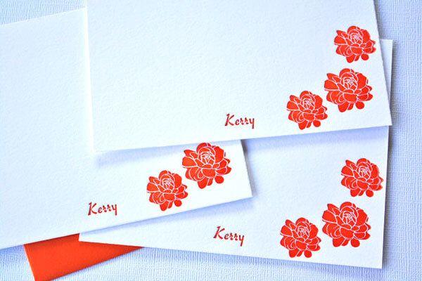 Personalized Letterpress Stationery Pikake Jasmine Blossoms Customized Cards by alohaletterpress on Etsy https://www.etsy.com/listing/111675796/personalized-letterpress-stationery