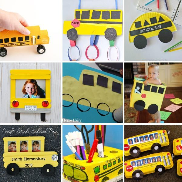 15 School Bus Crafts For Kids - Easy Back To School Craft