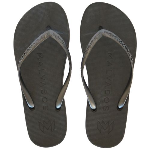 Malvados Playa in Onyx dark colors for extra cushiony comfort flip flop with molded footbed