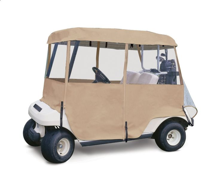Golf Carts - Classic Accessories 72072 4-Sided Deluxe 2-Person Golf Cart Enclosure