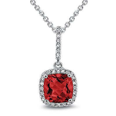 Ruby the birthstone for July. #ruby #diamondpendant #jewelry