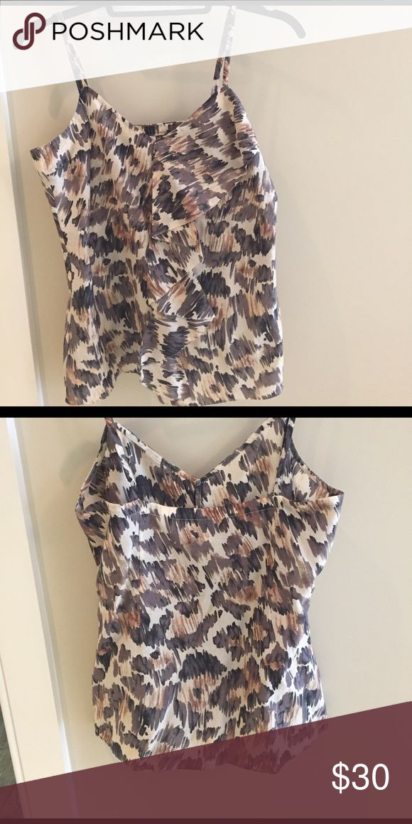 7 for all mankind camisole Animal print Cami with adjustable shoulders 7 For All Mankind Tops Camisoles