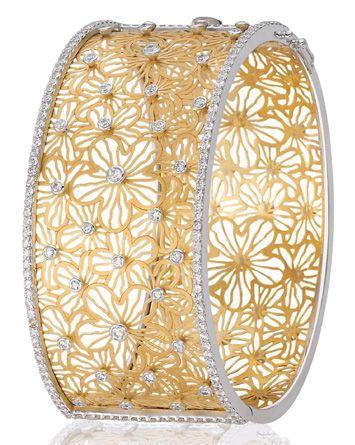 Bapalal Keshavlal: diamond and gold bracelet.