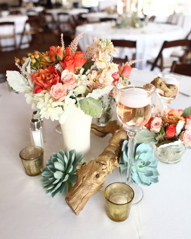 Images about floral driftwood centerpieces on
