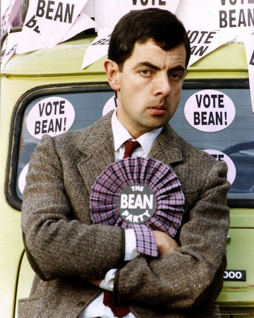 Rowan Atkinson as Mr. Bean.
